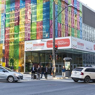 Affichage extérieur Palais des congrès Montréal