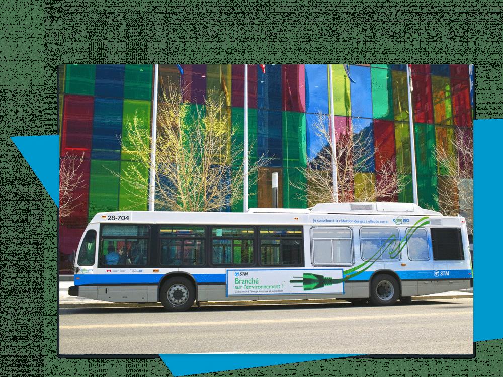 Visiteurs en autobus Palais des congrès Montréal