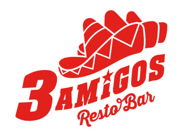 Logo restaurant 3 amigos