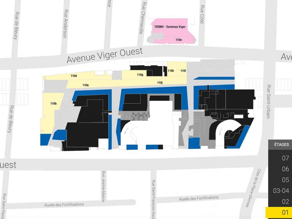 Plan Palais des congrès Montréal