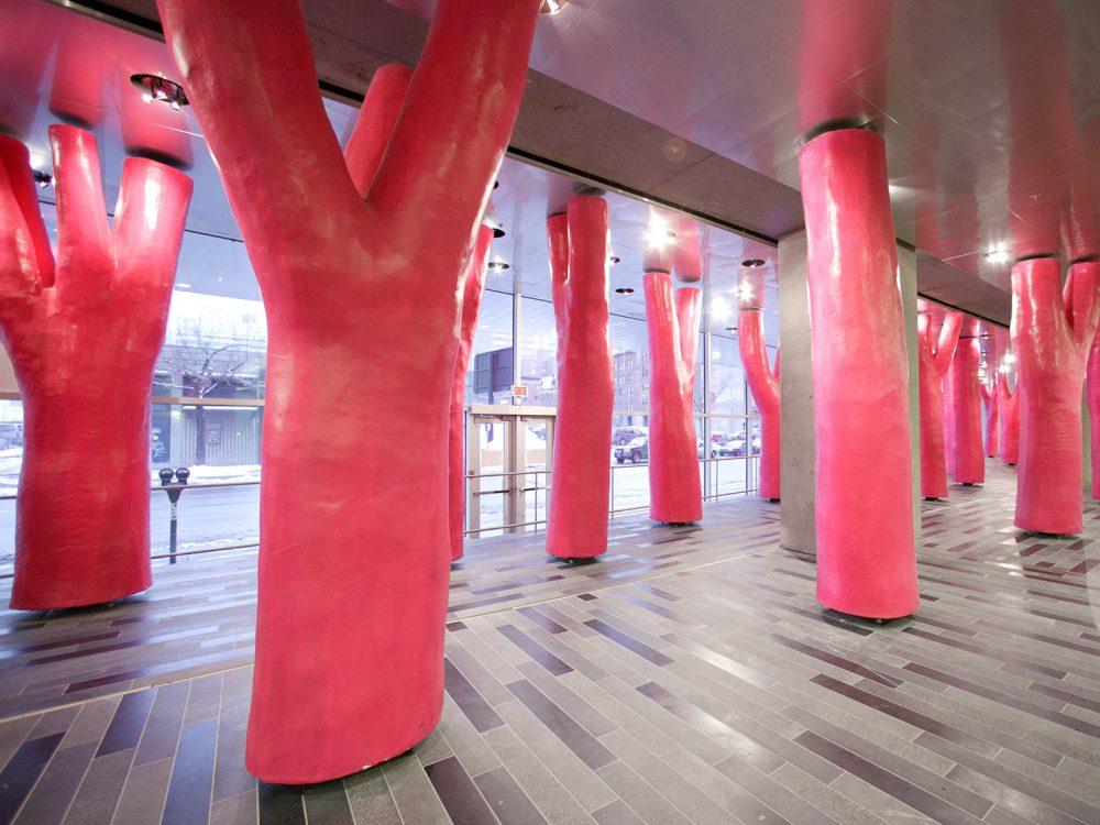 Arbre rose Palais des congrès Montréal