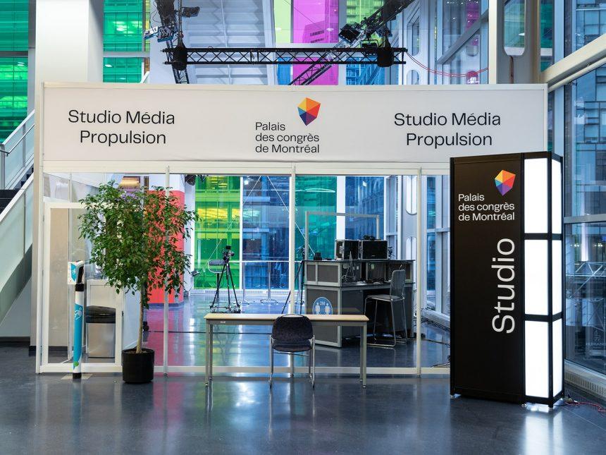 Studio Média Propulsion Palais des congrès Montréal