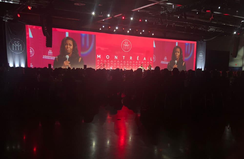 Michelle Obama 2018 Palais des congrès Montréal