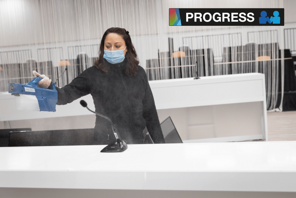 progres sanitaire nettoyage