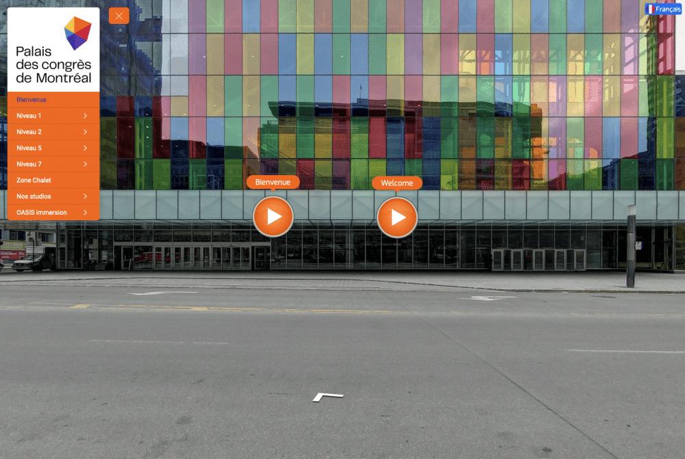 Visite virtuelle Palais des congrès de Montréal